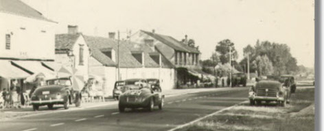 Vintage 1949 photo of Ferrari 166 MM Touring Barchetta S/N 0008M Returning from Le Mans